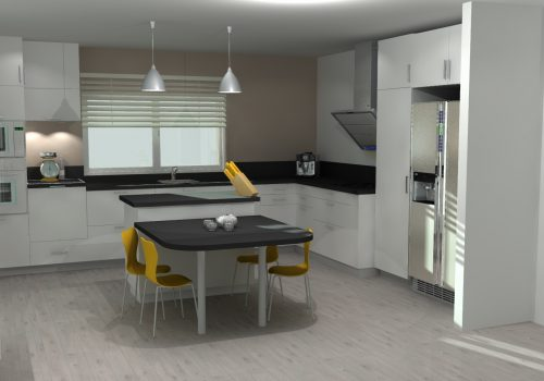 Vue 3D Aménagement Cuisine Intégrée