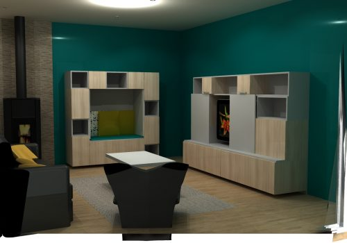 Vue 3D Aménagement Salon