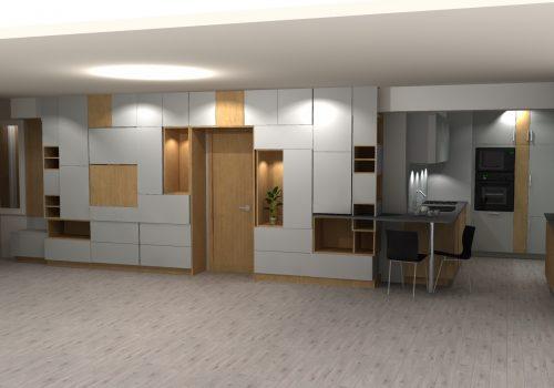 Vue 3D Agencement Maison