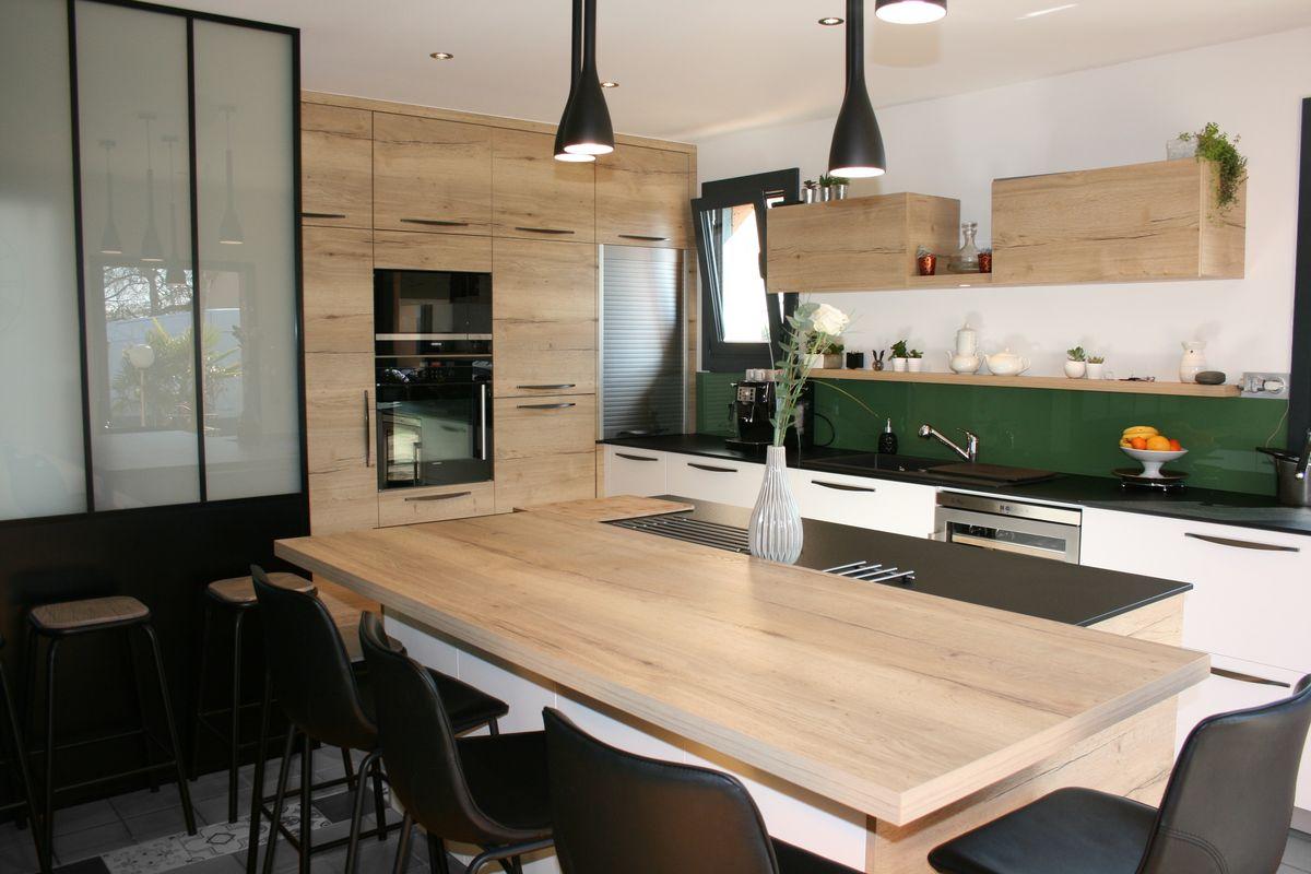 Photo Cuisine Bois Clair galerie de réalisation meubles sur mesure